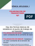 Polarizacion de Bjt - Electronica Aplicada i