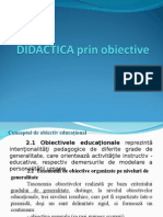 DIDACTICA Prin Obiective -Curs 4