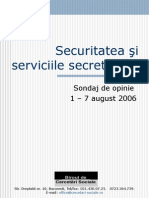 Sondaj BCS August 2006 Securitatea