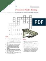 Advanced Crossword Puzzle - Banking