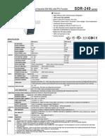 SDR 240 Spec