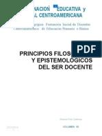 Principios Filosoficos y Epistemologicos de Ser Docente