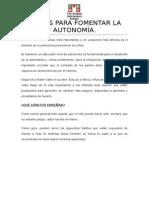 Pautas Para Fomentar La Autonomía