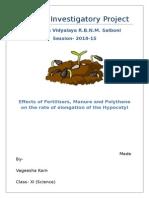 Biology Investigatory Project-
