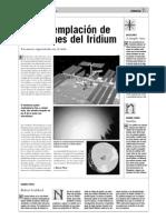 La contemplación de los flashes del Iridium