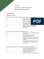 BUS 309 Business Ethics Week 11 Quiz