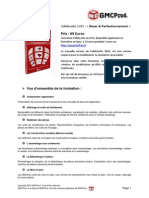 Sommaire Formation Solidworks 2010