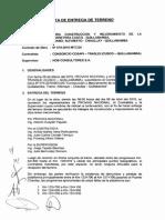Acta Entrega de Terreno Cusco