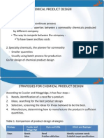 9. Chemical Product Design