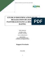 Etude Identification Des Zones Pastorales Dans La Region Du Bafing