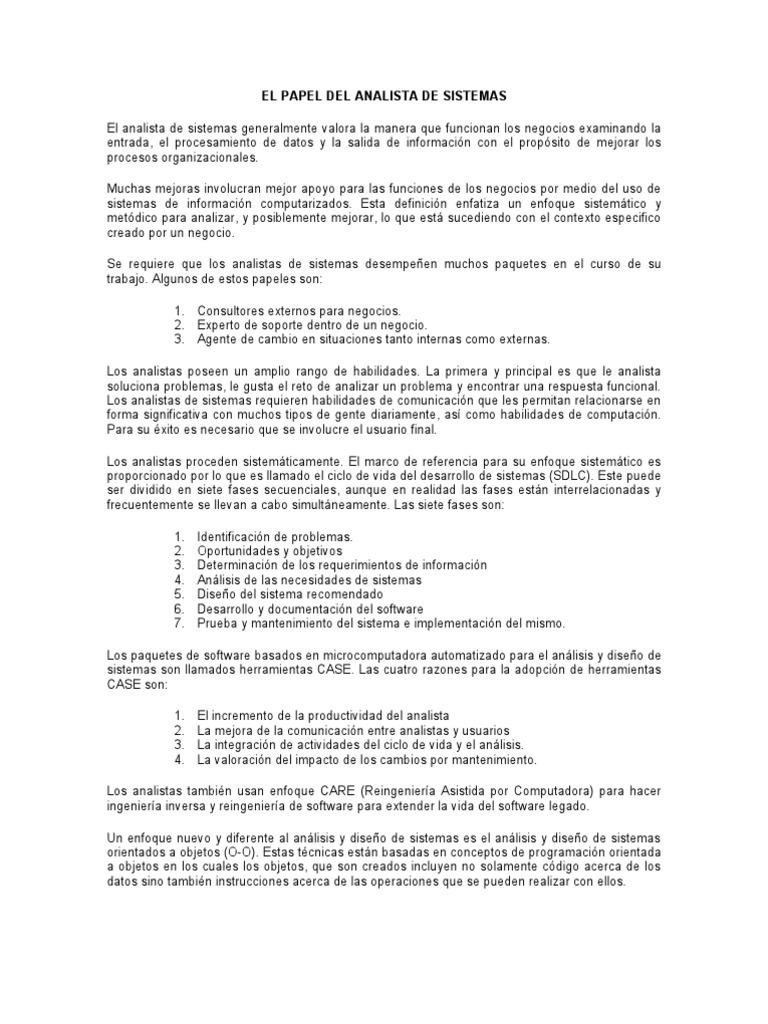 Perfecto Resumen De Un Analista De Negocios De Savia Molde - Ejemplo ...