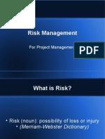 pr rIsk management