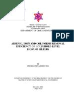 Shrestha - Arsenic Iron Coliform Removal of ABF 2004