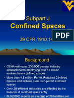 (13) OSHA 501 Subpart J Confined Spaces