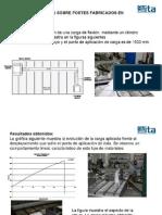 Ensayos a postes de fibra de vidrio de la Univ Aragon