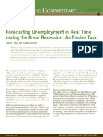 Forecasting Unemployment in Real Time During Great Recession PDF