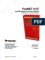 FireNET 4127 Analog Addressable Fire Alarm System, 9th Ed Installation Manual v1 90
