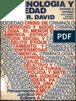 Criminología y Sociedad, David, Pedro R.