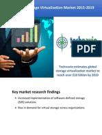 Global Storage Virtualization Market 2015-2019