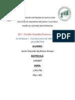a1 .- Planeacion de Proyecto Quadrotor