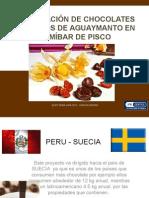 exportación de chocolate relleno de aguaymanto