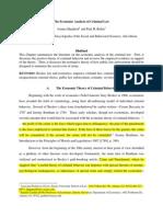 Економічний Аналіз Кримінального Права