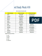 week 10 spelling