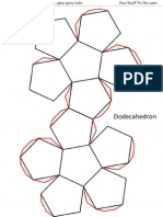 Dodecahedron Shape TEMPLATE