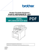 brother facsimile equipment mfc8870dw mfc8860dn mfc8460n dcp8065dn dcp8060 parts reference list