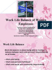 Work Life Balance of Women Employees