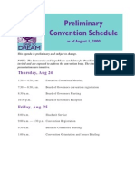 Public Schedule
