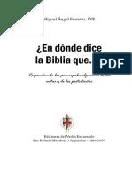 Miguel Fuentes - En Donde Dice La Biblia Que...