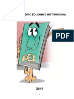 Documento de la Dirección educativa:Proyecto Educativo Institucional