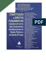 CONSTITUIÇÃO E DIREITOS FUNDAMENTAIS  ESTUDOS EM TORNO DOS FUNDAMENTOS CONSTITUCIONAIS DO DIREITO PÚBLICO E DO DIREITO PRIVADO