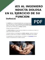 Sanciones Al Ing Por Conducta Dolosa