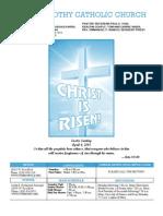 St. Timothy Parish Bulletin April 4, 2010