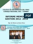 Informe Memoria Exposición -2012-2014