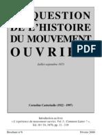 [Castoriadis] L'Experience Du Mvmt Ouvrier_ Intro