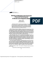 Board of Directors and Corporate Financial Performance