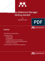 MendeleyMendeley Manual - Getting Started Manual - Getting Started