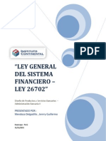 Ley General Del Sistema Financiero