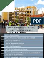 Reglamento General de Los Estudiantes de La Uac