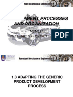 Chapter 1 (1.3-Adapting the Generic Product Development Process)