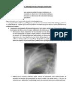Signos Radiológicos de Patologías Habituales