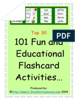 101 Ways to Use Word FLASHCards Top 30