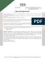 Warranty Agreement for shdsad