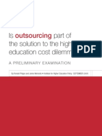 Outsourcing in Higher Education