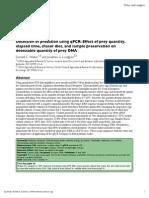 Detection of predation using qPCR