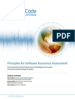 SAFECode Principles for Software Assurance Assessment