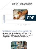 Farmacos en Neonatologia